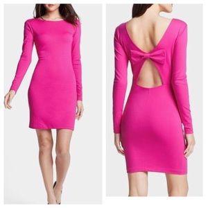 Amanda Uprichard pink bow dress. Size S